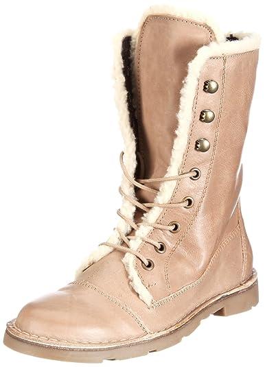 XTI Damen Stiefel mid/Leder - Botas militares, talla: 36, Color Marrón (Braun/Taupe)