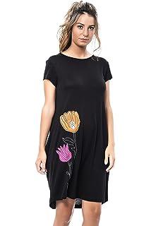 Mamatayoe Piovene Vestido Casual, Mujer, Negro, M