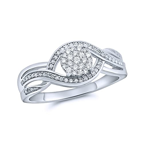 rings-midwestjewellery. com Diamond Bridal Anillo de compromiso de la mujer Twisted Anillos de