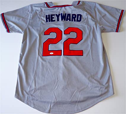 sports shoes 3b351 884e2 Autographed Jason Heyward Jersey - Road Gray Coa E76815 ...