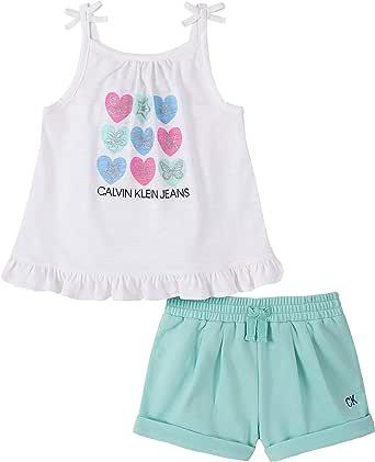 Calvin Klein Baby Girls 2 Pieces Shorts Set