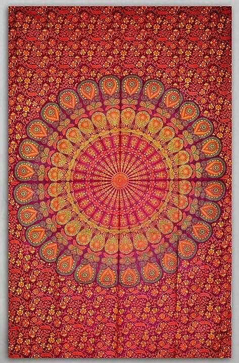 b5d7df86b6207 UrbanDreamz-indian Droplet Style Twin Wall Hanging Tapestry, Wall  Decorator, Indian Mandala Beach