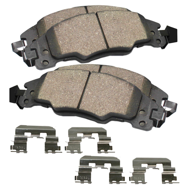 Brembo Brake Pads >> Detroit Axle Pair Front Ceramic Brake Pads W Hardware Kit Not For Brembo Brakes Spec V Or Se R
