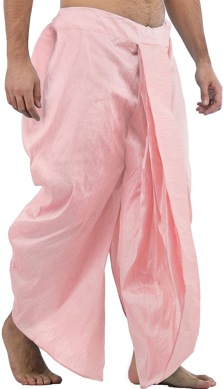 Maenner-Dhoti-Dupion-Silk-Plain-handgefertigt-fuer-Pooja-Casual-Hochzeit-Wear Indexbild 59