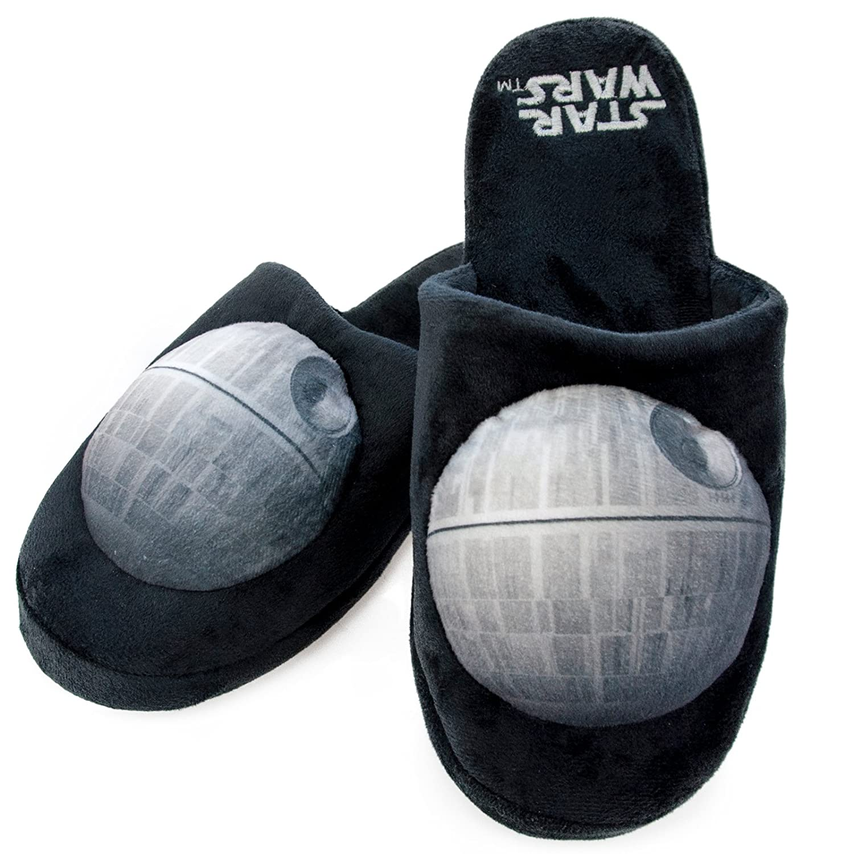 473016f6d802 Groovy Adults Star Wars Mule Slippers - Death Star Slipper - Medium - UK 5-7   Amazon.co.uk  Kitchen   Home