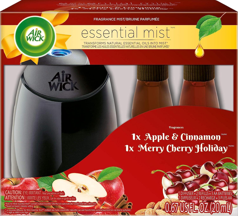 Air Wick Essential Mist Fragrance Mist Diffuser Kit, Gift Pack 1 Diffuser+2 Refills, Air Freshener Reckitt Benckiser Canada 062338995076