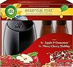Air Wick Essential Mist Fragrance Mist Diffuser Kit, Gift Pack 1 Diffuser+2 Refills, Air Freshener