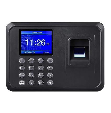 Reloj biométrico de asistencia con huella dactilar y contraseña. Control de asistencia Registro de tiempo