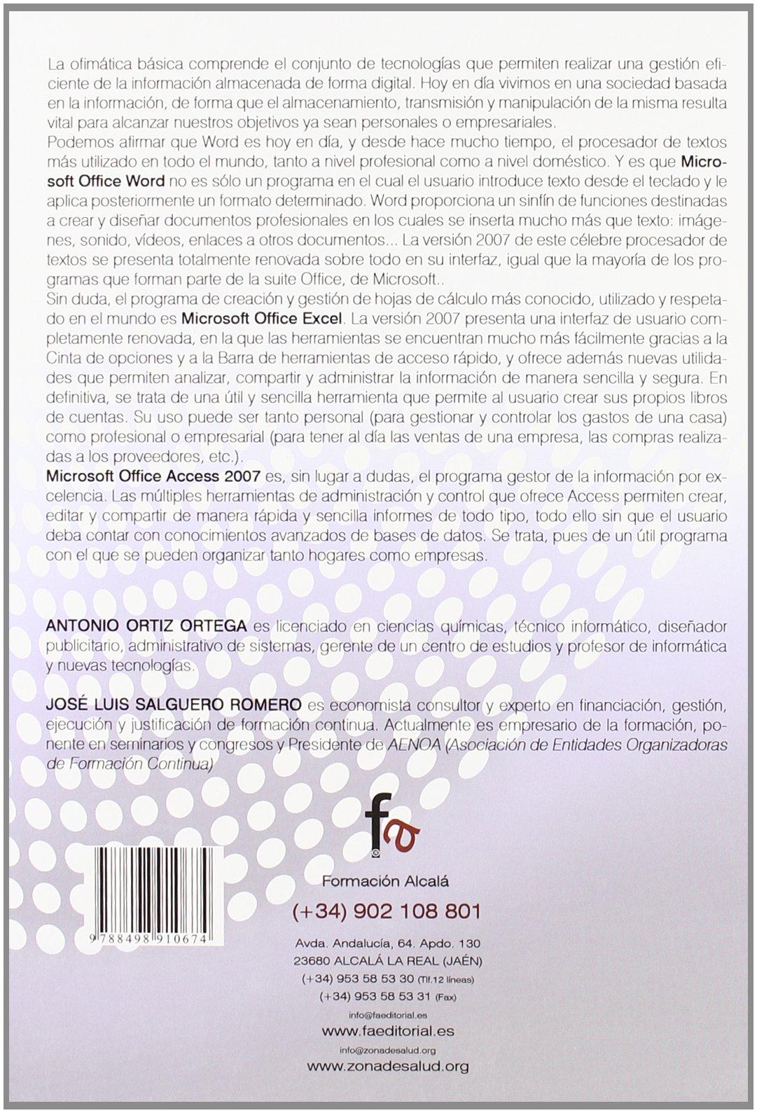Ofimatica basica (Spanish Edition): Antonio Ortiz Ortega, Jose Luis ...