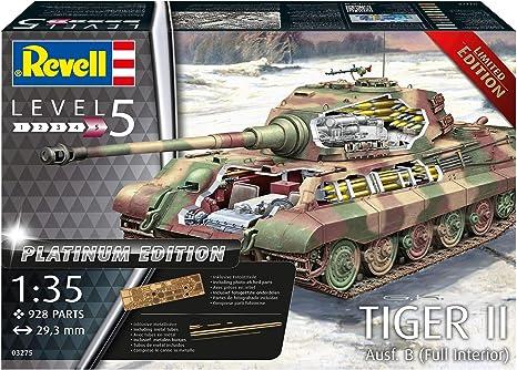 Revell 03275 TIGER II Ausf B Platinum Edition Photoätzteile Bausatz 1:35 Neu