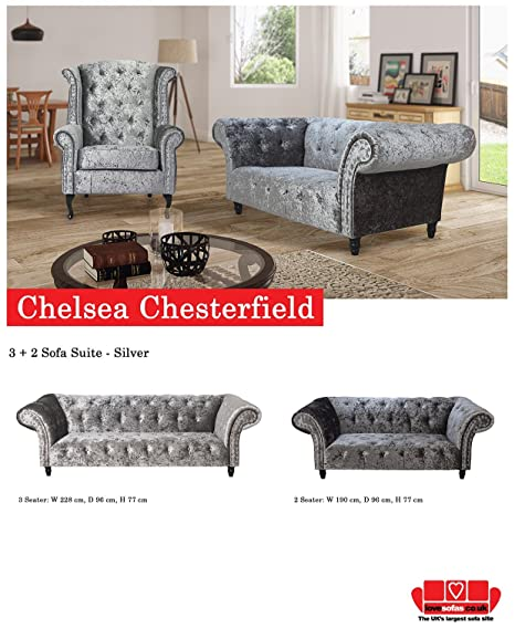 Lovesofas Chelsea Chesterfield Terciopelo 3 + 2 Asientos ...