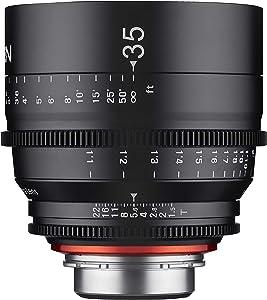 Rokinon XN35-PL - Lente Profesional para cámaras de vídeo PL Mount Pro (renovada, 35 mm, T1,5), Color Negro