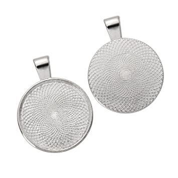 24 pack bezel pendant trays round trays pendant blanks 25 mm 24 pack bezel pendant trays round trays pendant blanks 25 mm diameter silver mozeypictures Image collections