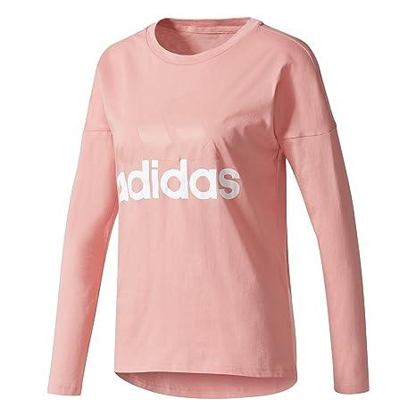 Adidas ESS Li Losleeve Camiseta, Mujer, Rosa (rostac), 2XS