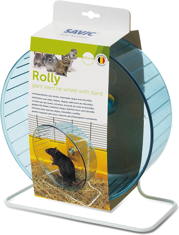 Savic Rolly - Rueda de ejercicio con soporte para roedores