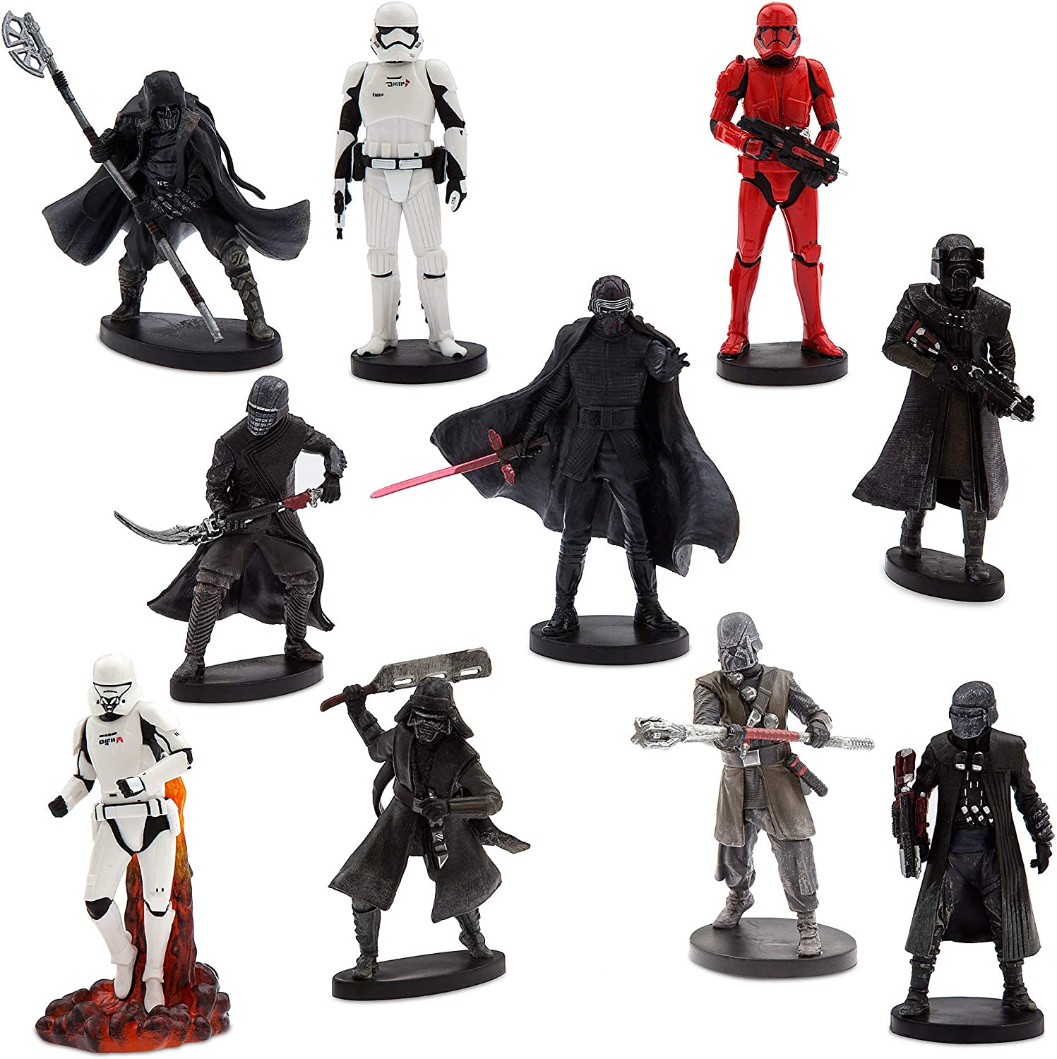 Amazon Com Star Wars The Rise Of Skywalker Deluxe Figure Play Set The First Order Toys Games