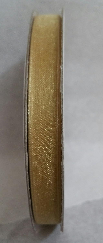 NASTRO IN ORGANZA LARGHEZZA 10 MM ROTOLO DA 50 METRI (ARANCIO) ETM