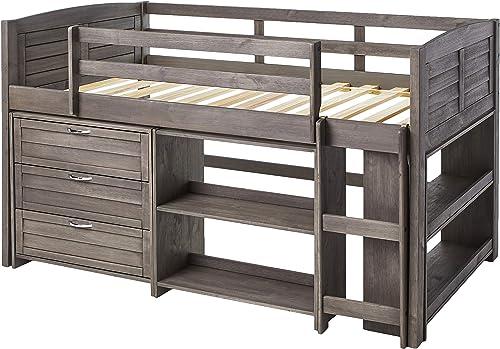 Donco Kids Louver Modular Low Loft Bed Combo B
