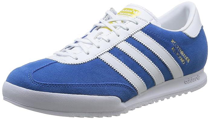 adidas Originals Beckenbauer Allround Schuhe Unisex-Erwachsene blau mit weißen Streifen