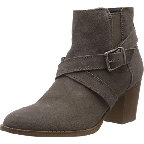 Hush Puppies SAIGE OLIVYA Ladies Womens Suede Leather Buckle Ankle Boots Camel