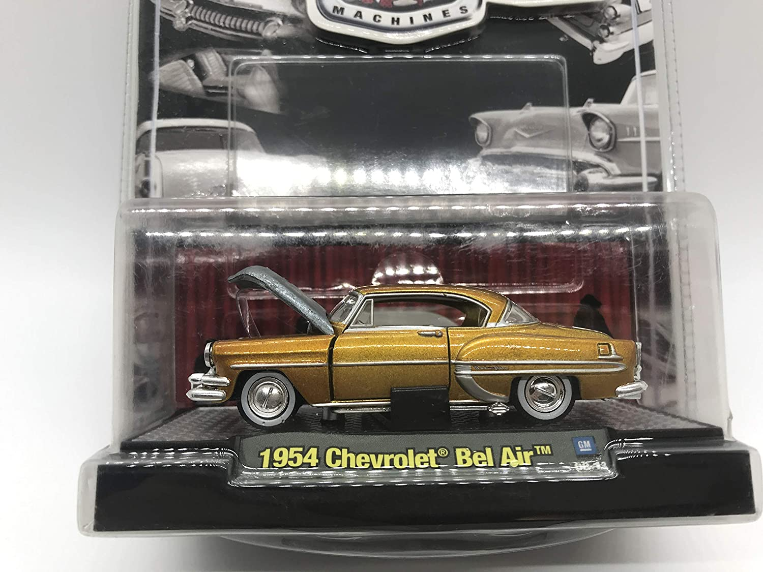 Details Like NO Other! M2 Machines by M2 Collectible Auto-Thentics 1954 Chevy Bel Air 08-13 Gold wear on Yellowish Blister is at its Normal Condition