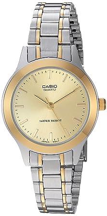 Casio LTP-1128G-9ARDF - Reloj (Reloj de Pulsera, Acero Inoxidable, Oro, Acero Inoxidable, Acero Inoxidable, Oro, Acero Inoxidable, Mineral)