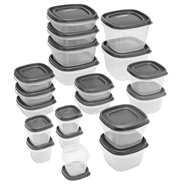 Rubbermaid Easy Find Lid 40-Piece Food Storage Container Set, Grey