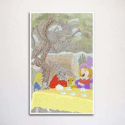 Alice in Wonderland Tea Party word art print -11x17