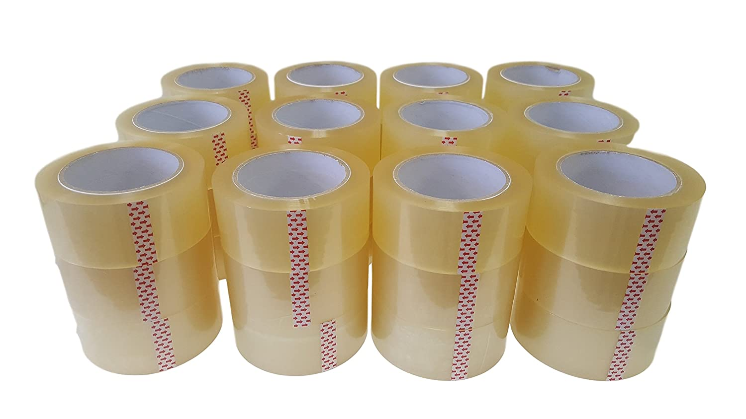 Oknuu 36-Rolls Clear Packaging Packing Tape 2x110 Yards 48mm x 100m - BOPP Water Based Acrylic Glue - Super Strong Carton Sealing Tape - Extra Heavy Duty - 2.56 MIL Thickness