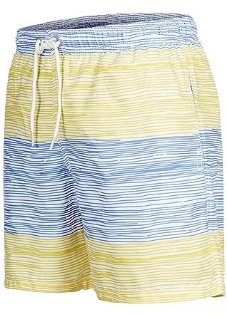 Occulto Badeshort Strips 2-tone-colours Blau/Gelb S