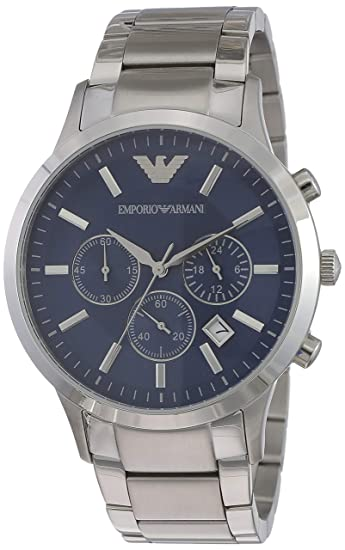 3cccde6742c Buy Emporio Armani Renato Analog Blue Dial Men s Watch - AR2448 Online at  Low Prices in India - Amazon.in