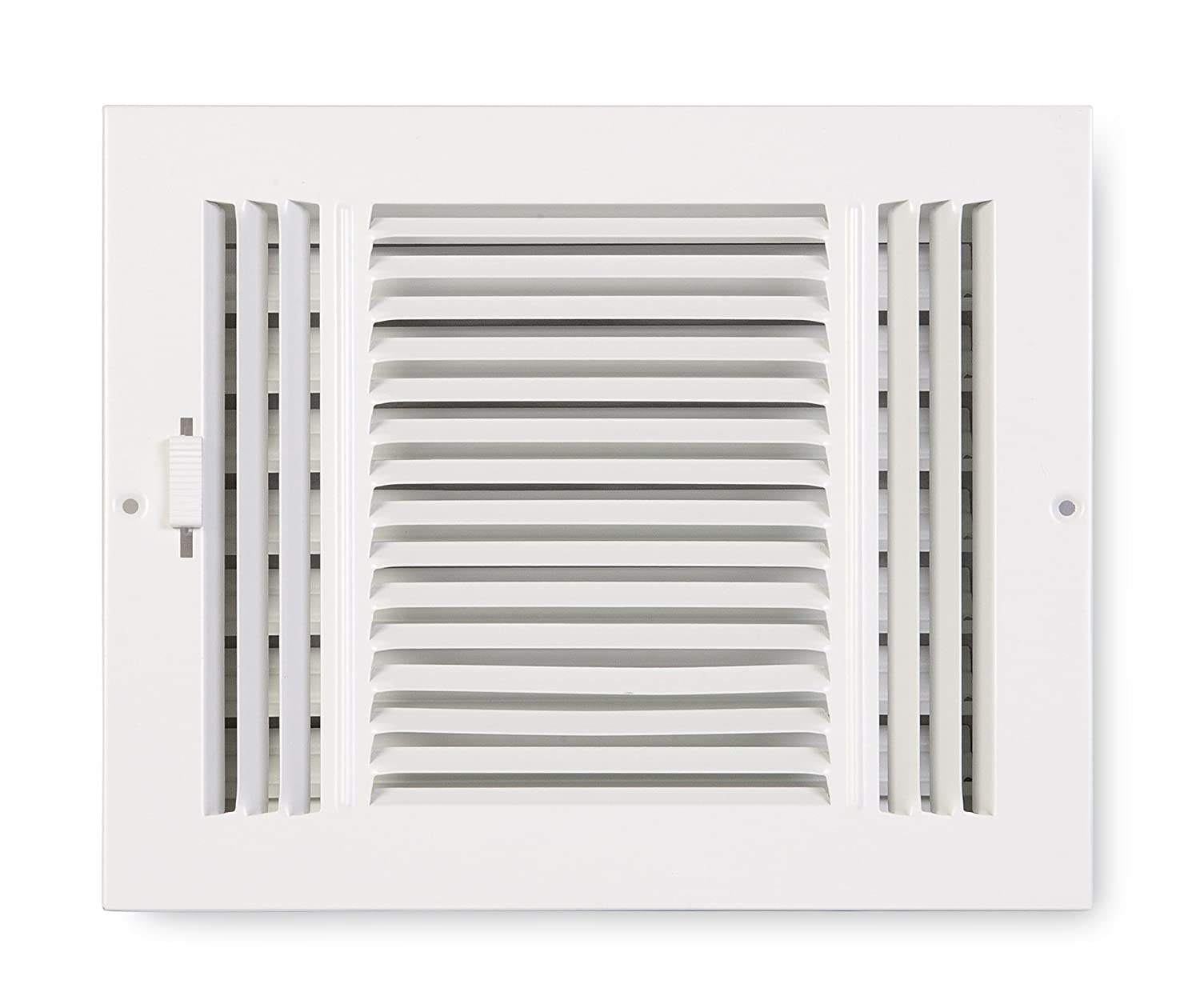 Accord ABSWWH3106 Sidewall/Ceiling Register with 3-Way Design, 10-Inch x 6-Inch(Duct Opening Measurements), White