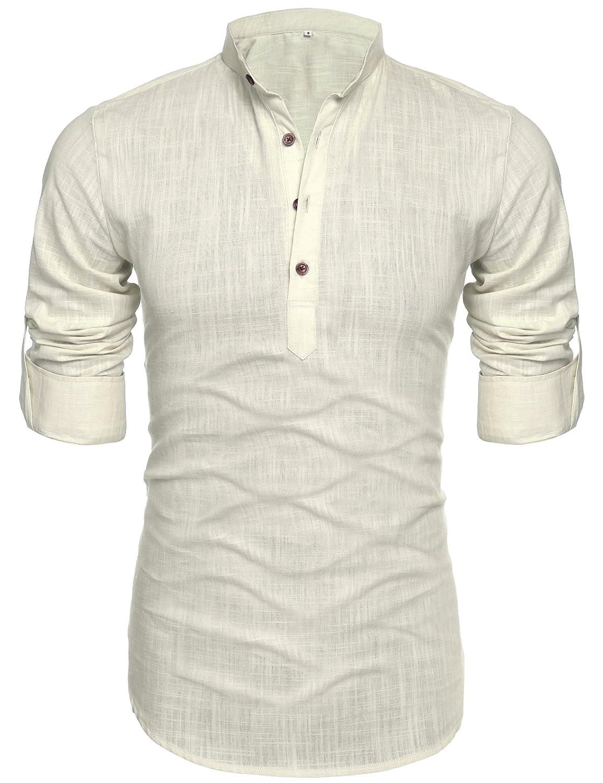 Vska Men Thin Short-Sleeve Round Collar Camo Loose Tees