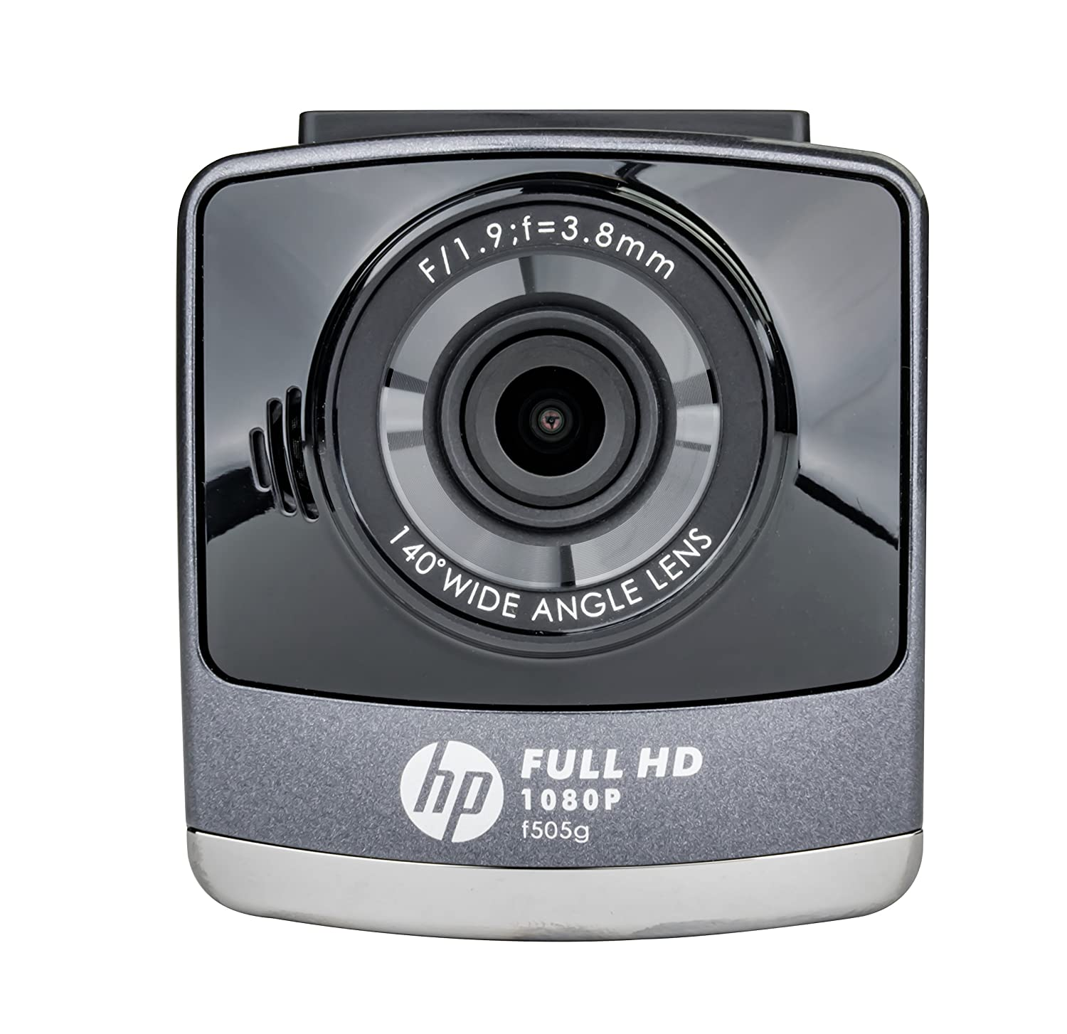 HP F505G 1080P Dash Cam Wide Angle Lens w//Lane Departure Warning System Black