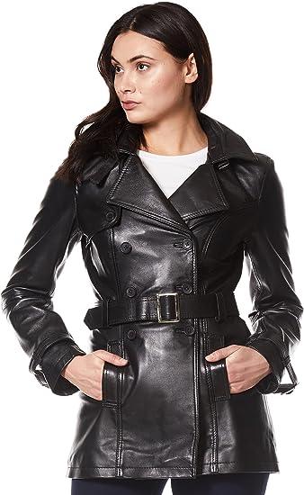 Grade 1* Lambskin Leather Shirt Jackets Ladies Trucker Tan Smart Designer Real