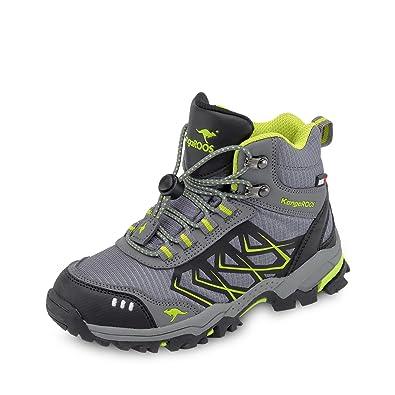 KangaROOS Unisex-Kinder Molas Hi Hohe Sneaker, Grau (Steel Grey/Lime), 38 EU