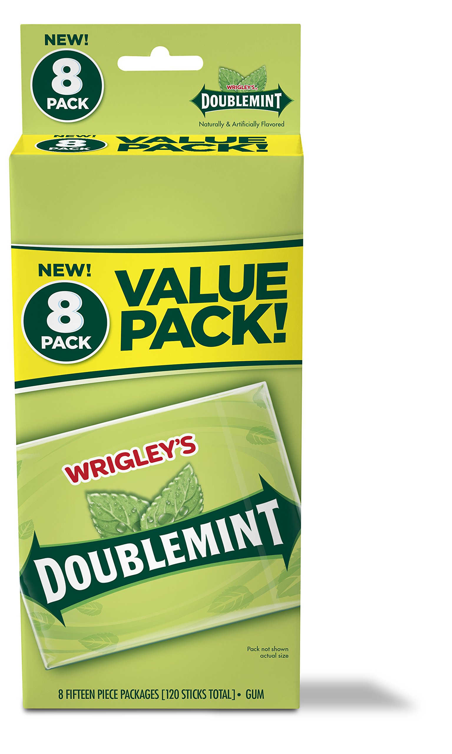 Wrigley's Doublemint Chewing Gum, 6 Value Packs (48 packs total) by Doublemint Gum