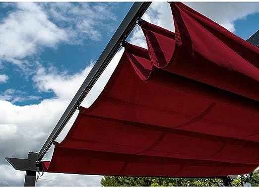 Toldo de tela de repuesto para pérgola de ALEKO, 9 x 9 pies, color borgoña: Amazon.es: Jardín
