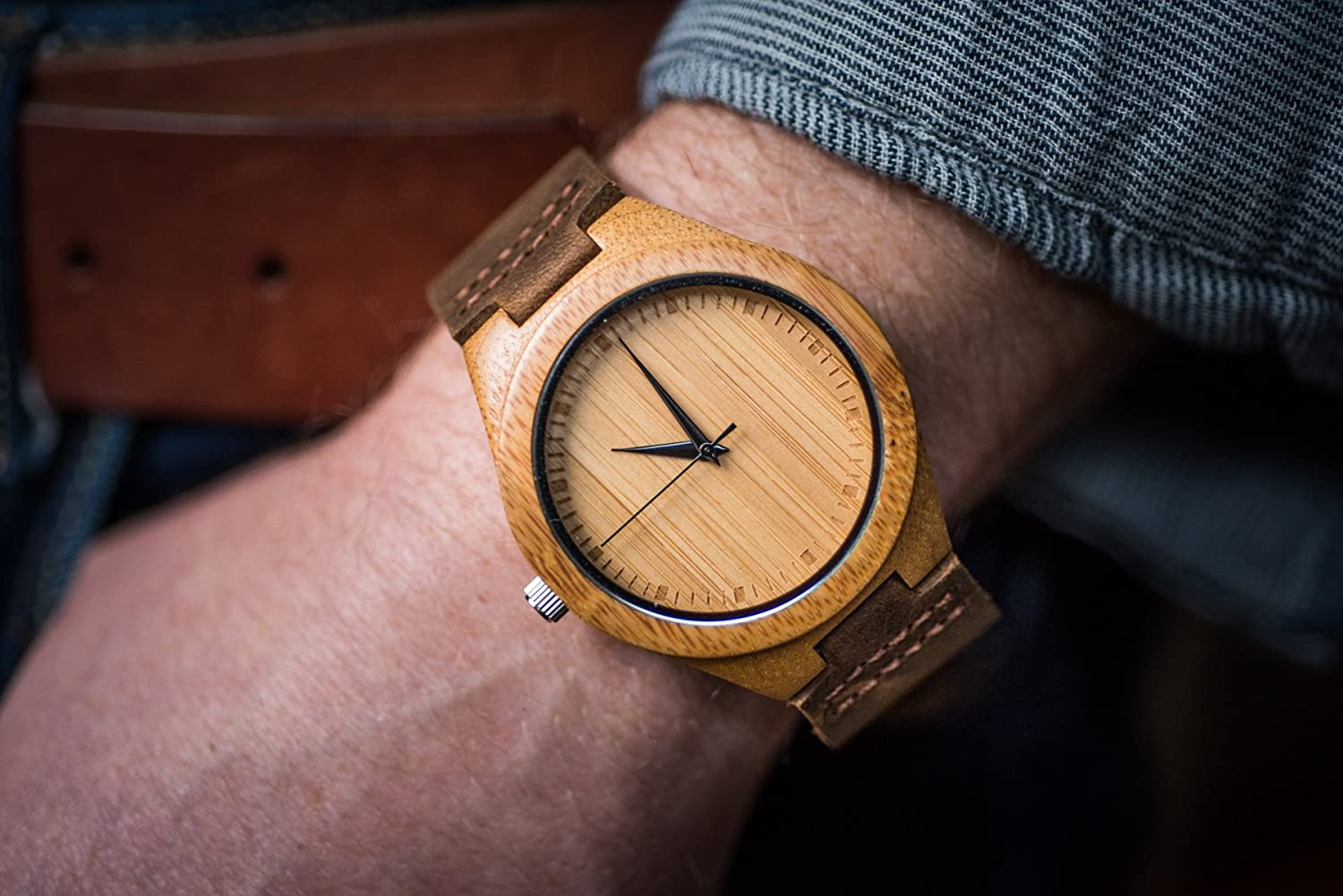 and minimalist alleghany wood products watches the havern bamboo mens woodworks watch leather maple wooden