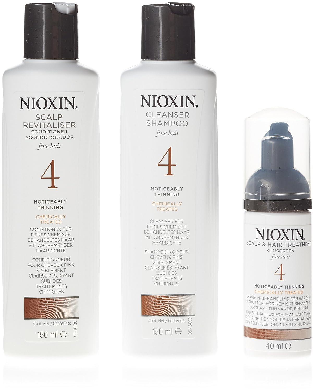 Nioxin - System 1, Sistema trifasico per la cura dei capelli, Cleanser + Scalp Revitaliser + Scalp Treatment, 3 pz. 7283