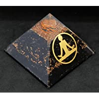 Pirámide de orgonita de Shungite para protección EMF y protección de energía negativa | Pirámide orgánica de cristal…