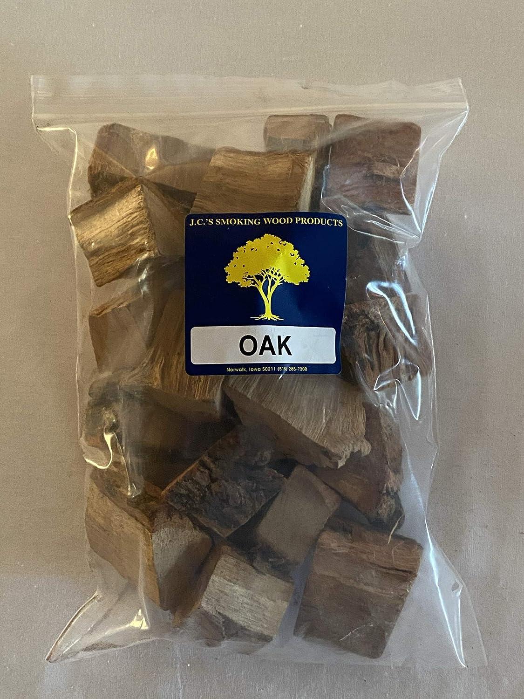 J.C.'s Smoking Wood Chunks - Gallon Sized Bag - Oak