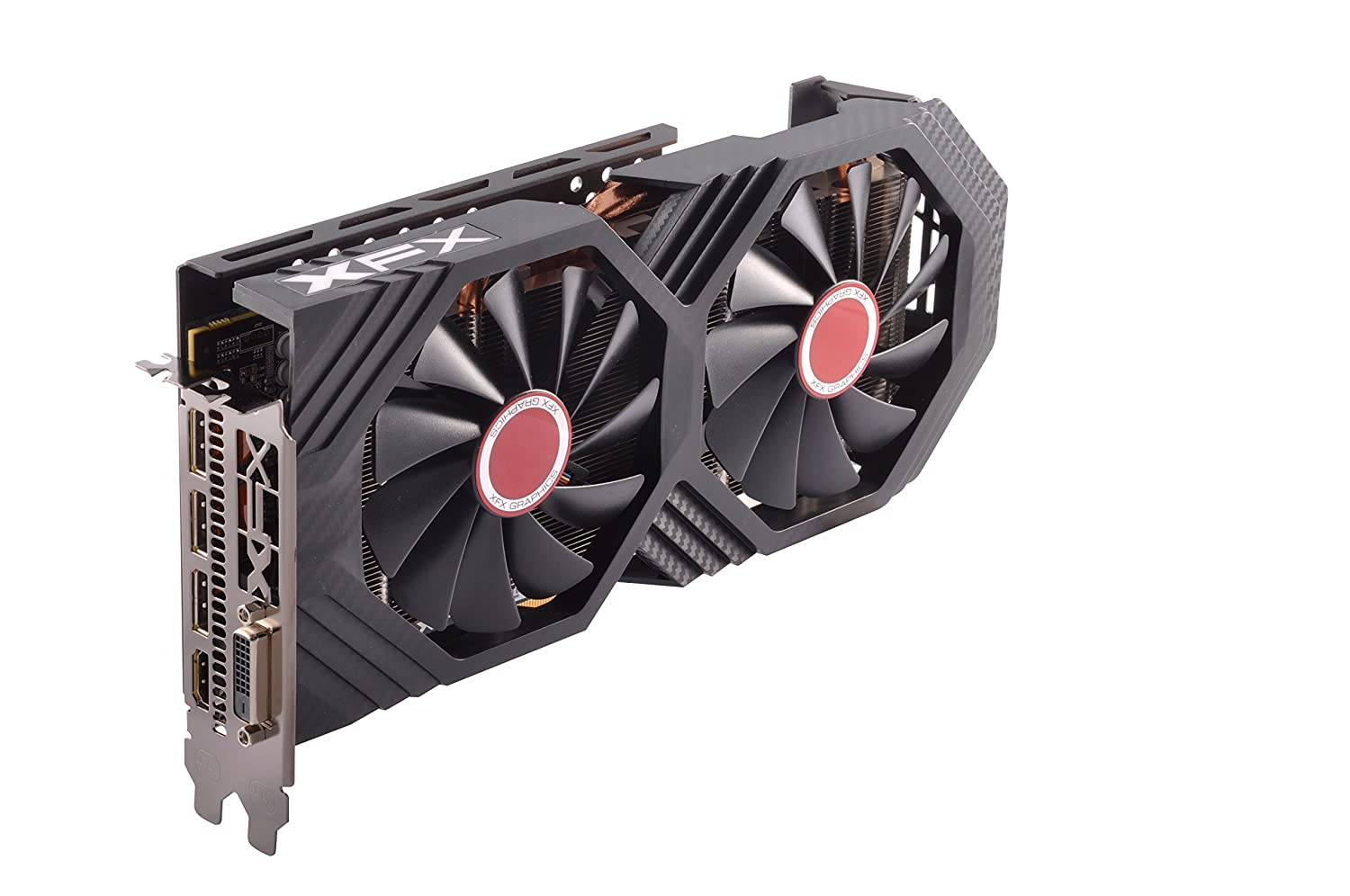 XFX Radeon RX 580 GTS Black Edition 1405MHz OC+, 8gb 256bit GDDR5, DX12 VR Ready, Double Dissipation, Dual BIOS, 3xDP HDMI DVI, PCI-E AMD Graphics Card (RX-580P828D6)