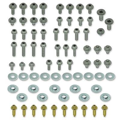 76pc SPECBOLT Body Bolt KIT for Plastics seat fenders Fork Guards shrouds & subframe. Fits KTM & Husqvarna 65 80 85 125 150 200 250 350 400 450 500 520 525 SX SX-F XC XC-F XC-W XCF-W EX EXC EXC-F: Home Improvement