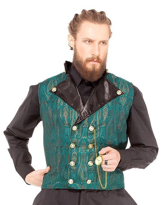 ThePirateDressing Steampunk gótico Victoriano Inspector Ebeneezer Chaleco Disfraz [C1349] Verde Verde Small
