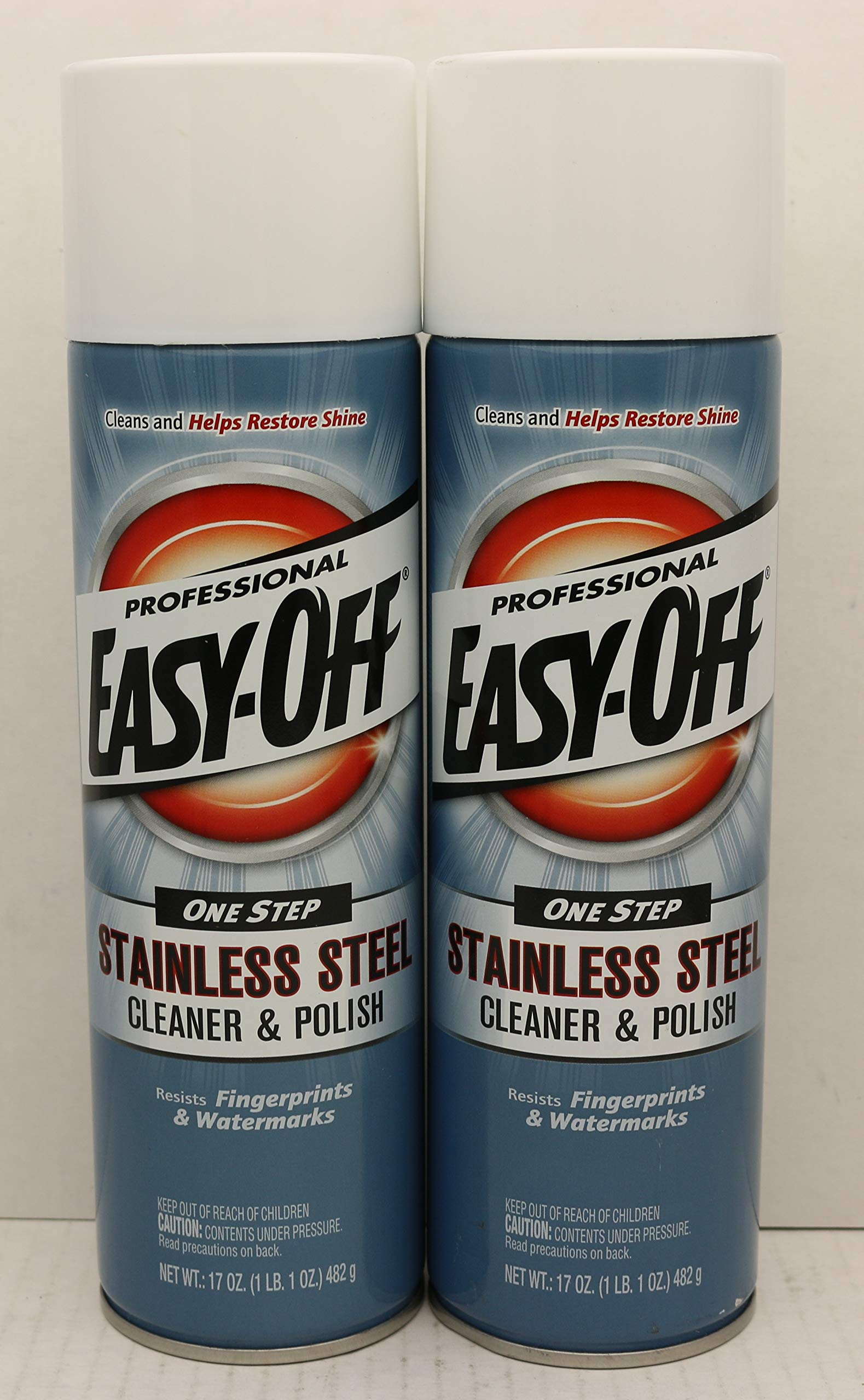 Easy Off Professional Easy-off, Stainless Steel Cleaner and Polish, 17 Ounce, 2 Pack