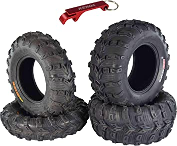 6ply Pair of Kenda Bear Claw EVO 2 25x10-12 ATV Tires