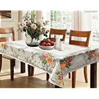 Kuber Industries Net Dining Table Cover for 6 Seater- Cream
