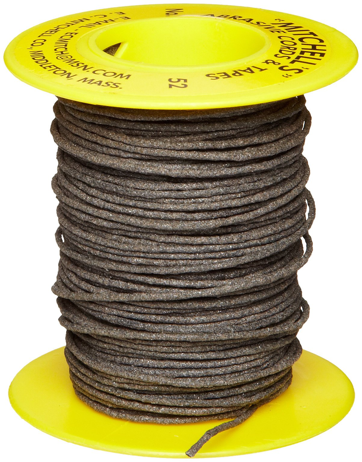 Mitchell Abrasives 52 Round Abrasive Cord, Aluminum Oxide 150 Grit .055'' Diameter x 50 Feet by Mitchell Abrasives