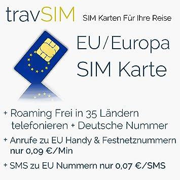 Europa tarjeta SIM (35 Países de la UE/Europa) - Estándar ...